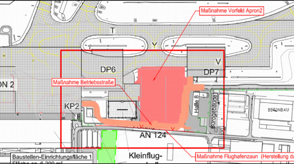 Ensuring EASA compliance of civil engineering works for a new Apron of Leipzig/Halle Airport